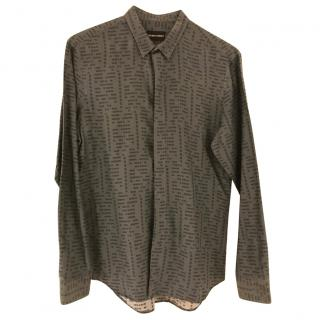 Emporio Armani geometric print shirt