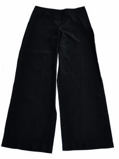 Philosophy di Alberta Ferretti black silk wide leg trousers
