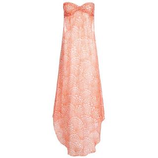 Melissa Odabash Sally Fan Apricot Maxi Dress