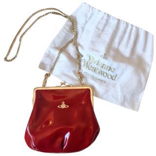 Vivienne Westwood burgundy red clasp bag