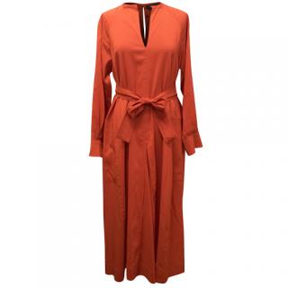 Isabel Marant Red Belted Midi Dress