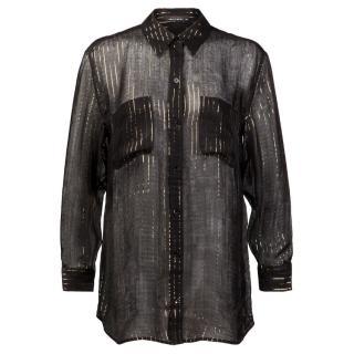 Kate Moss X Equipment Silk Sheer Shirt