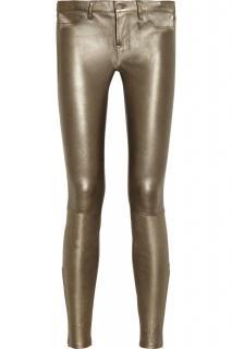 J Brand Gold Leather Leggings