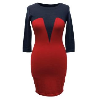 Markus Lupfer Wool Intarsia Dress