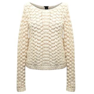 Club Monaco Crochet Knit Jumper