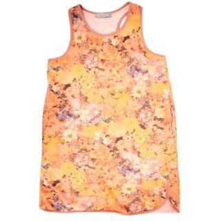 Stella McCartney Girls Floral Racerback Sleeveless Dress