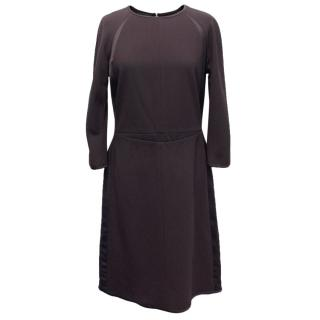 Narciso Rodriguez Brown Wool Midi Dress