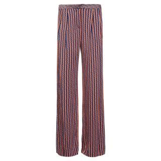 Diane von Furstenberg Geometric Print Trousers
