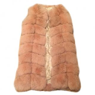 Powder Pink Fox Fur Vest
