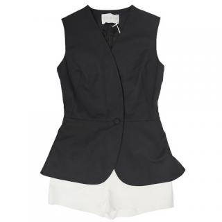 Osman Black and White Peplum Playsuit
