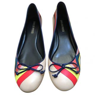 Emilio Pucci Printed Leather Ballet Flats