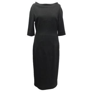 Amanda Wakeley Black Midi Dress