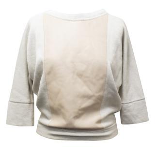 Celine Leather Panelled Sweatshirt
