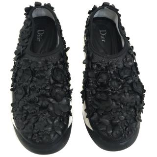 Dior floral leather trainers
