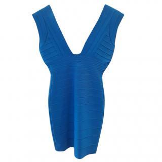 Herve Leger Blue Mini Dress