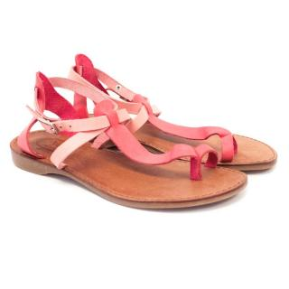Papouelli Girls Leather Sandals