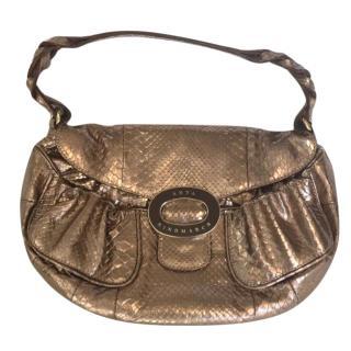 Anya Hindmarch Gold Snakeskin Handbag
