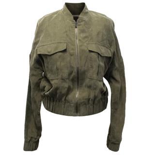 J Brand Green Santa Fe Cropped Jacket