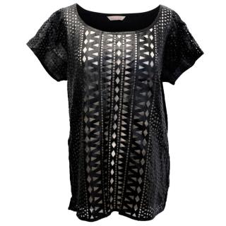Sass and Bide Leather Cut Out Top