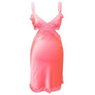 Stella Mccartney Cut Out Pink Slip