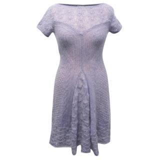 Philosophy Purple Mohair Blend Dress