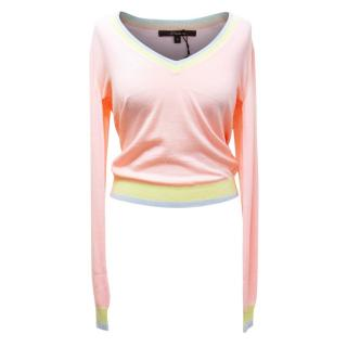 Horiyoshi The Third Pink Merino Wool Jumper