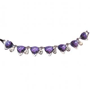 Swarovski Bracelet with Purple Crystals