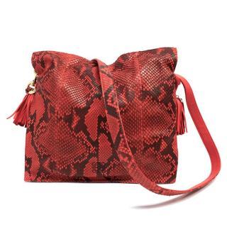 Loewe Red Snakeskin Bag