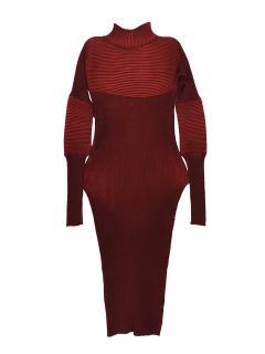 Peter Pilotto silk red knit dress