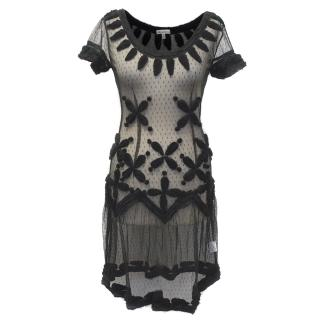 Allegra Hicks Black Mesh Dress