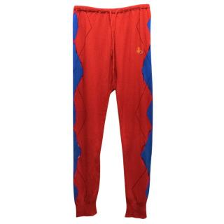 Vivienne Westwood Johnstons Of Elgin Cashmere Red Trousers