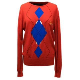 Vivienne Westwood Johnstons Of Elgin Cashmere Red Sweater