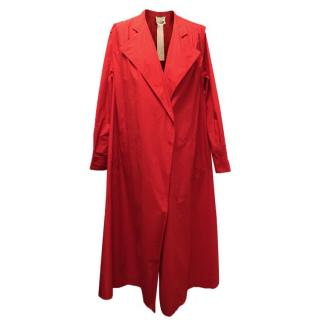 Forte Forte Red Trench Coat