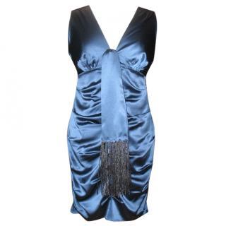 Hale Bob Silk dress in night blue