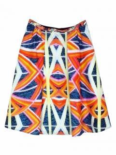 Peter Pilotto silk orange skirt