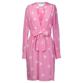 Moschino Heart Pink Silk Dress