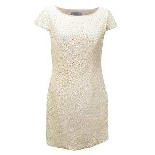 Zadig & Voltaire Cream Lace Mini Dress