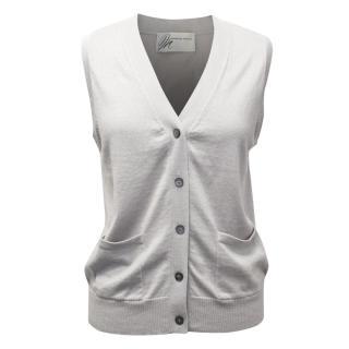 Madeleine Thompson Grey Silk and Cashmere Blend Vest