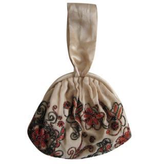 Megan Park beaded silk handbag