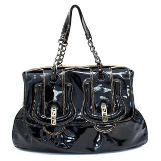 Fendi Black Patent B Tote Bag