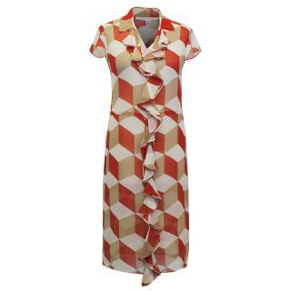 Diane von Furstenberg Geometric Print Dress