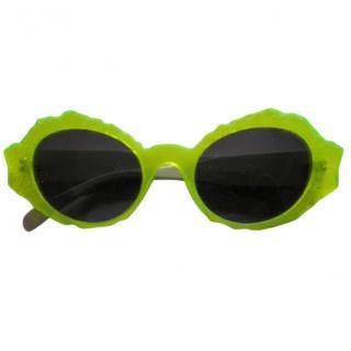 Marni acid green retro frame sunglasses