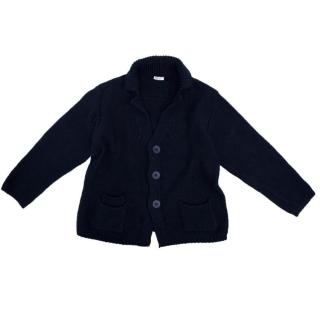 Il Gufo Navy Knitted Cardigan