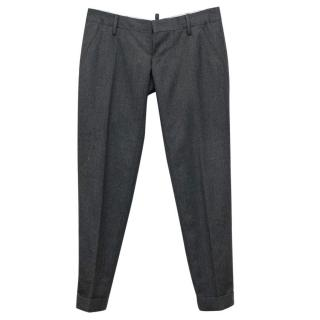 Dsquared Grey Wool Trousers