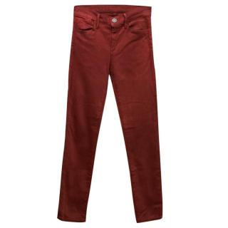 Goldsign Red Skinny Jeans