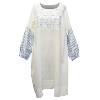 Injiri White and Cream Kaftan Dress