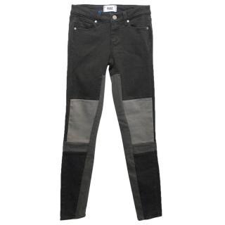 Paige Grey Patchwork Skinny Jeans