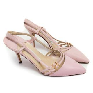 Manolo Blahnik Pink Pointed Slingback Heels