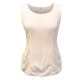 Valentino Couture Cream Sleeveless Top