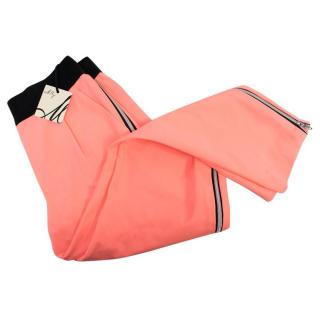 Milly Neon Coral Cropped Trousers
